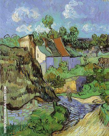 House at Auvers 1890 By Vincent van Gogh