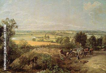 Stour Valley and Dedham Church 1814 By John Constable - Oil Paintings & Art Reproductions - Reproduction Gallery