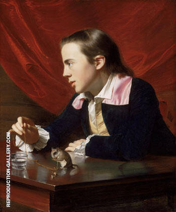 Henry Pelham Boy with a Squirrel 1765 By John Singleton Copley - Oil Paintings & Art Reproductions - Reproduction Gallery