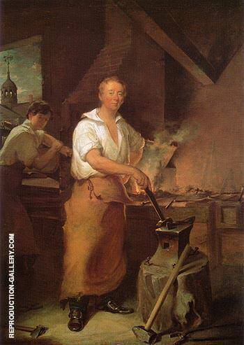Reproduction of Pat Lyon at the Forge c 1826 by John Neagle | Oil Painting Replica On CanvasReproduction Gallery