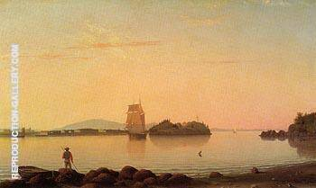 Reproduction of Owl's Head Penobscot Bay Maine 1862 by Fitz Hugh Lane | Oil Painting Replica On CanvasReproduction Gallery