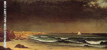 Approaching Storm Beach Near Newport c1861 By Martin Johnson Heade