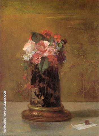 Vase of Flowers 1864 By John La Farge