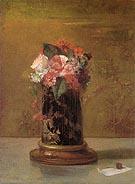 Vase of Flowers 1864 By John La Farge