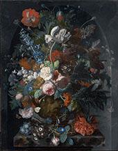 Vase of Flowers in a Niche c1732 By Jan Van Huysum