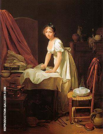Young Woman Ironing c1800 By Louis Boilly - Oil Paintings & Art Reproductions - Reproduction Gallery