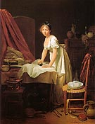 Young Woman Ironing c1800 By Louis Boilly
