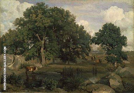 Forest Fontainbleau c1846 By Jean-baptiste Corot - Oil Paintings & Art Reproductions - Reproduction Gallery