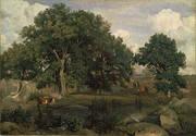Forest Fontainbleau c1846 By Jean-baptiste Corot