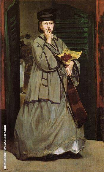 Reproduction of Street Singer c1862 by Edouard Manet | Oil Painting Replica On CanvasReproduction Gallery