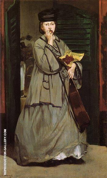 Street Singer c1862 By Edouard Manet