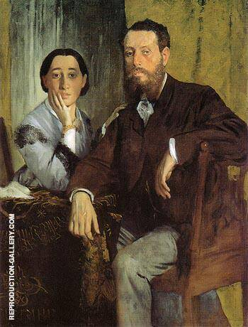 Edmondo and Therese Morbilli 1867 By Edgar Degas