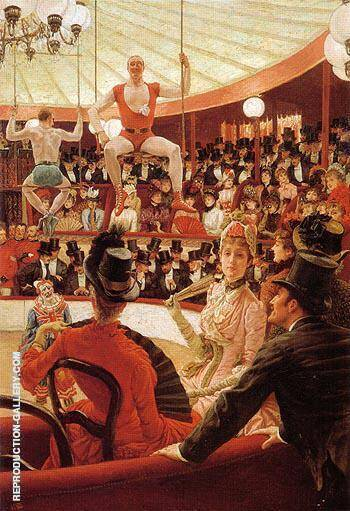 Women of Paris The Circus Lover c1883 By James Tissot - Oil Paintings & Art Reproductions - Reproduction Gallery
