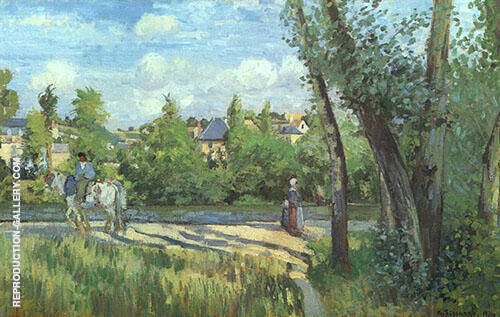 Sunlight on the Road Pontoise1874 By Camille Pissarro