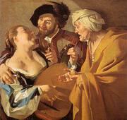 The Procuress 1672 By Dirk Van Baburen