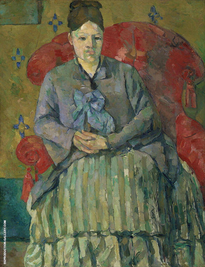Madam Cezanne in a Red Armchair By Paul Cezanne