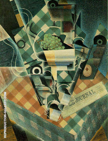 Still Life with Checked Tablecloth 1915 By Juan Gris