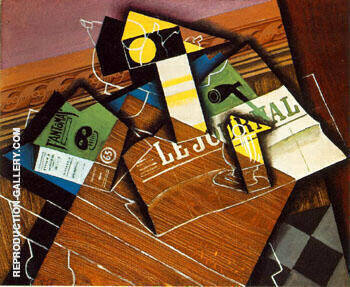 Fantomas Pipe and Newspaper By Juan Gris
