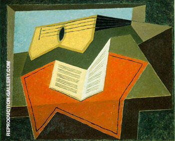 Guitar and Music Paper By Juan Gris - Oil Paintings & Art Reproductions - Reproduction Gallery