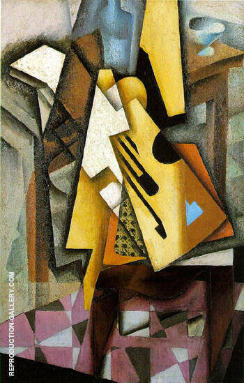 Guitar on a Chair 1913 Painting By Juan Gris - Reproduction Gallery