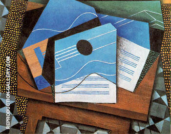 Guitar on a Table 1915 By Juan Gris