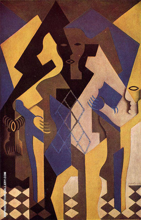 Harlequin at a Table 1919 By Juan Gris