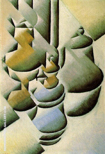 Still Life with Oil Lamp c1911 By Juan Gris