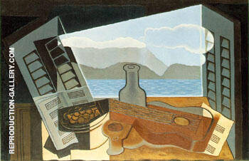The Open Window 1921 By Juan Gris - Oil Paintings & Art Reproductions - Reproduction Gallery