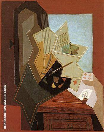 The Painters Window 1925 By Juan Gris - Oil Paintings & Art Reproductions - Reproduction Gallery