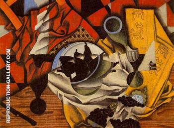 Pears and Grapes on a Table 1913 By Juan Gris Replica Paintings on Canvas - Reproduction Gallery