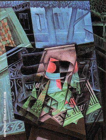 Still Life before an Open Window Place Ravignan 1915 By Juan Gris - Oil Paintings & Art Reproductions - Reproduction Gallery