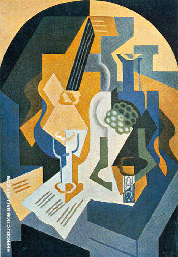 Still Life with Fruit Dish and Mandolin 1919 By Juan Gris - Oil Paintings & Art Reproductions - Reproduction Gallery
