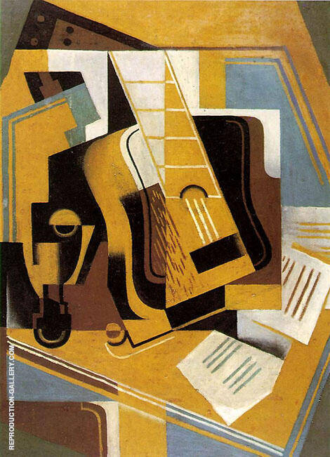 Reproduction of The Guitar 1918 by Juan Gris | Oil Painting Replica On CanvasReproduction Gallery
