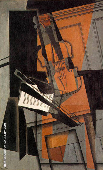 Reproduction of The Violin 1916 by Juan Gris | Oil Painting Replica On CanvasReproduction Gallery