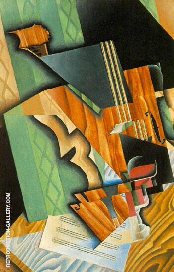 Violin and Glass 1915 By Juan Gris Replica Paintings on Canvas - Reproduction Gallery