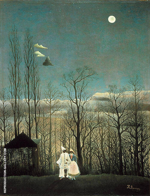 A Carnival Evening 1886 Painting By Henri Rousseau - Reproduction Gallery