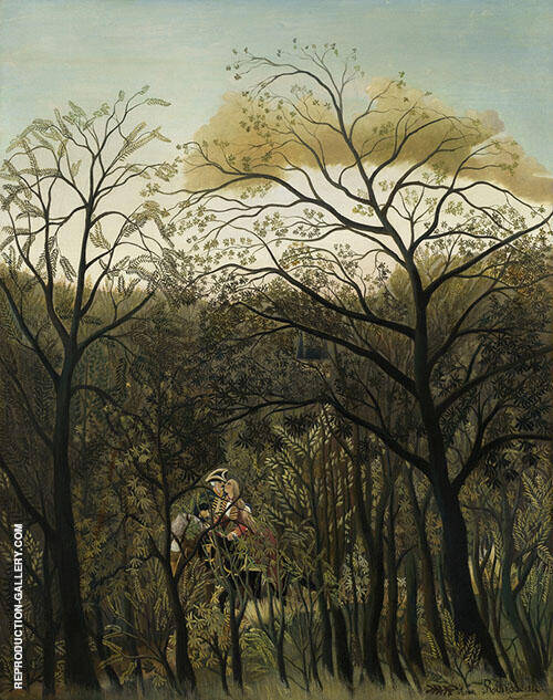 Rendezvous in the Forest 1889 Painting By Henri Rousseau
