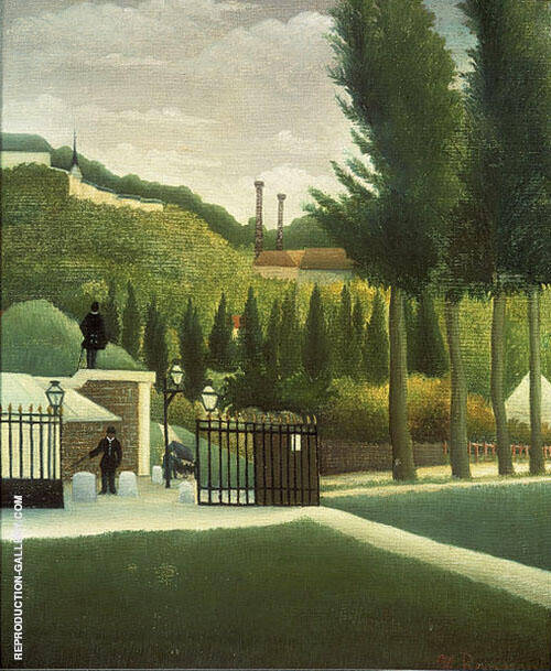Reproduction of Toll Station 1890 by Henri Rousseau | Oil Painting Replica On CanvasReproduction Gallery
