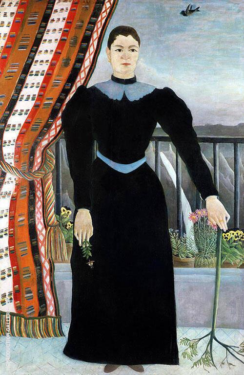 Portrait of a Woman about 1895 By Henri Rousseau