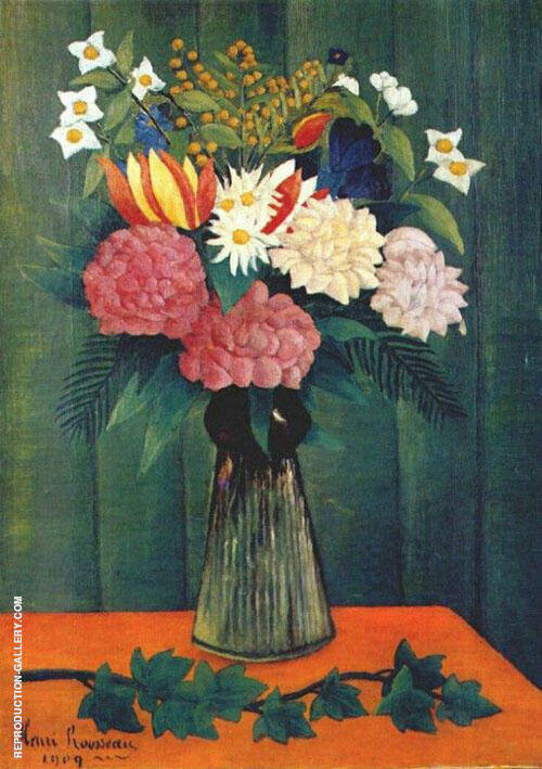 Reproduction of Flowers in a Vase 1909 by Henri Rousseau | Oil Painting Replica On CanvasReproduction Gallery