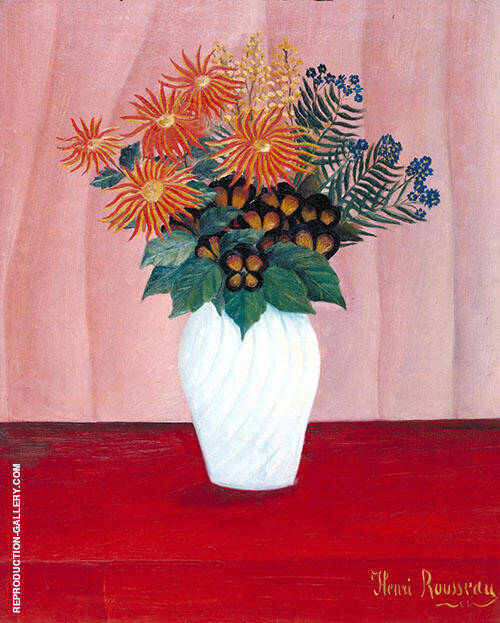 Bouquet of flowers c1909 By Henri Rousseau Replica Paintings on Canvas - Reproduction Gallery