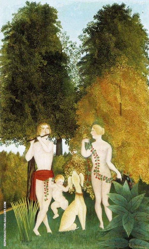 Happy Quartet 1906 By Henri Rousseau