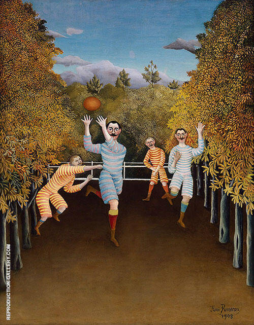 Reproduction of The Football Piayers 1908 by Henri Rousseau | Oil Painting Replica On CanvasReproduction Gallery