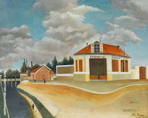 Chair factory at Affortville By Henri Rousseau