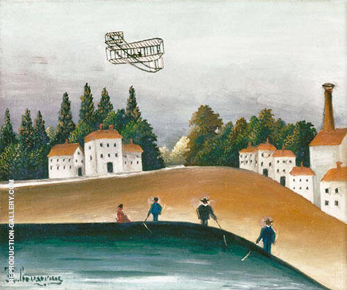 Les Pecheurs a la Ligne By Henri Rousseau Replica Paintings on Canvas - Reproduction Gallery
