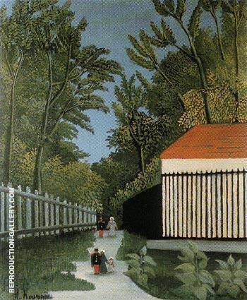 Walk in the Parc Monsouris c1910 By Henri Rousseau