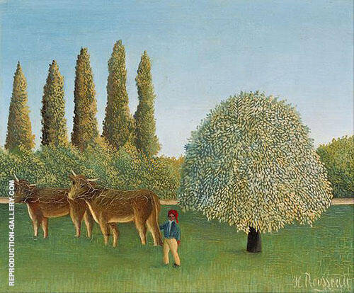 The Pasture 1910 By Henri Rousseau