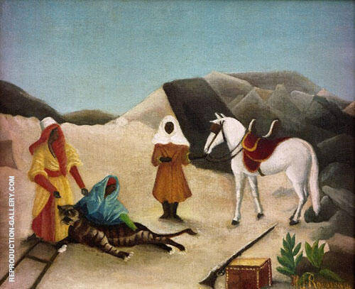 Tiger Hunt c1904 By Henri Rousseau