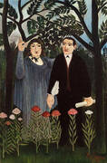 The Muse Inspiring the Poet 1909 By Henri Rousseau