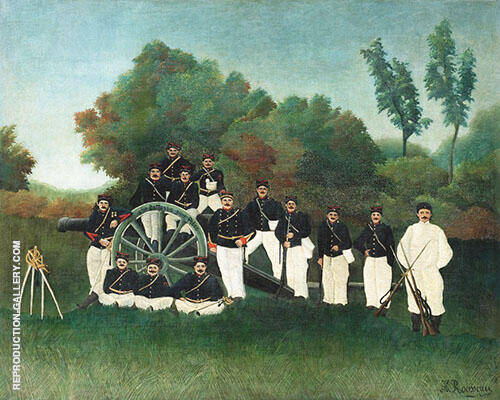 Reproduction of Artillerymen by Henri Rousseau | Oil Painting Replica On CanvasReproduction Gallery